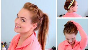Diy Gym Hairstyles 3 Workout Ready Hairstyles Diy Headband