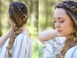 Diy Hairstyles for Open Hair Double Dutch Side Braid Diy Back to School Hairstyle