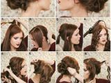 Diy Hairstyles for Open Hair How to Make A Fancy Bun Diy Hairstyle