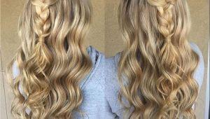 Dressy Braided Hairstyles Blonde Braid Prom formal Hairstyle Half Up Long Hair