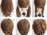 Easy Braided Hairstyles for Shoulder Length Hair Easy Step by Step Hairstyles for Medium Hair