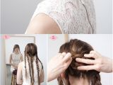 Easy Braided Hairstyles for Thick Hair Fancy Braided Updo Hairstyle for Thick Hair Hairstyles