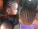 Easy Cornrow Hairstyles for Kids Simple Braided Bow Bun Children S Natural Style
