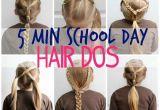Easy Hairstyles 5 Minutes Girls Easy Hairstyles for School Luxury 5 Minute School Day Hair