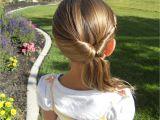 Easy Hairstyles for Kids with Medium Hair Cute Twistback Flip Under Girls Hairstyles