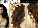 Easy Hairstyles for Long Hair without Heat No Heat Kim Kardashian Curls Hair Tutorial Video