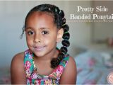 Easy Hairstyles for Mixed Kids Pretty Side Banded Ponytail Curly Mixed Hairstyles