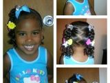 Easy Hairstyles for Mixed Kids Simple 3 Ponytails with Half Twists and Curls Mixed
