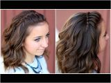 Easy Hairstyles for Short Hair to Do at Home Youtube Diy Faux Waterfall Headband