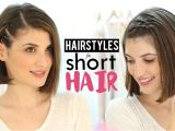 Easy Hairstyles for Short Hair to Do at Home Youtube Hairstyles for Short Hair Tutorial