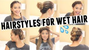 Easy Hairstyles for Wet Curly Hair Best Hairstyles for Wet Hair the Hairstyles Magazine