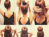 Easy Hairstyles to Put Your Hair Up Easy top Bun