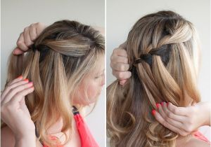Easy Hairstyles with Instructions How to Make A Beautiful Waterfall Braid Waterfall Braid