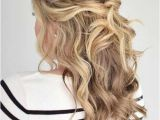 Easy Half Updo Hairstyles for Long Hair 31 Half Up Half Down Prom Hairstyles Wedding Hair