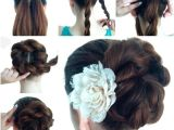Easy Made Hairstyle Wonderful Diy Twist Double Rope Bun Hairstyle