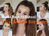 Easy One Minute Hairstyles Back to School 5 Five Minute Hairstyles