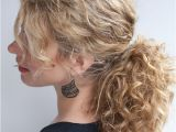 Easy Ponytail Hairstyles for Curly Hair Curly Hairstyle Tutorial the Curly Ponytail Hair Romance