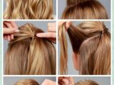 Easy Steps Of Hairstyles to Do at Home Simple Diy Braided Bun & Puff Hairstyles Pictorial