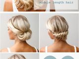 Easy to Do Hairstyles for Shoulder Length Hair 16 Pretty and Chic Updos for Medium Length Hair Pretty
