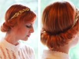 Easy to Do Vintage Hairstyles Vintage Updo Hairdo Tutorial Easy Updo Hairstyles for