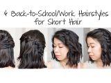 Easy Work Hairstyles for Short Hair 4 Easy 5 Min Back to School Work Hairstyles for Short Hair