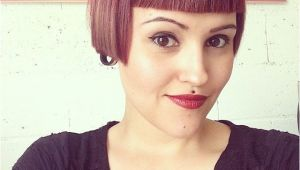 Extreme Short Bob Haircut Great Sharp Line Above Eyebrows You Have to Have the