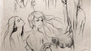 """Fantasy Hairstyles Drawing Fantasy """"girl"""" Hair I Love This so Much Wanna Draw People with"""