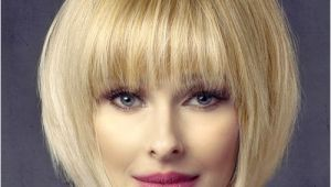 Formal Hairstyles Bobs Short Straight formal Bob Hairstyle with Layered Bangs Light