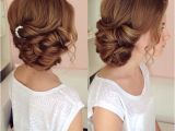 Formal Hairstyles Bridesmaids Side Swept Updo Draped Updo Wedding Hairstyles Bridal Hair Ideas