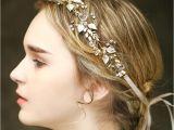 Formal Hairstyles Gold Coast Vintage Wedding Bridal Crystal Headband Ribbon Rhinestone Crown