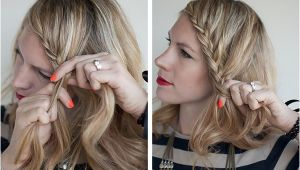 Front Braid Hairstyles Step by Step How to Lace Braid Hairstyle Tutorial