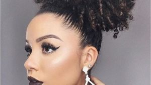 Gel Hairstyles for Black Women Short High Afro Ponytail Clip In Afro Kinky Curly Hair Drawstring