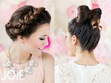 Girls Bow Hairstyle Valentines Hair Bow Hair Crown Braid High School Girl