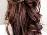 Hair Down Curled Hairstyles 55 Stunning Half Up Half Down Hairstyles Prom Hair