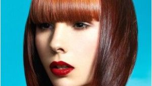 Hairstyles Bangs Definition A Medium Brown Straight Coloured Multi tonal Defined Fringe Womens