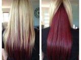 Hairstyles Blonde On top Red Underneath Blonde with Dark Ends Inspiring Ideas Pinterest