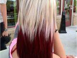 Hairstyles Blonde top Brown Underneath Crimson and Blonde Hair❥