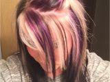 Hairstyles Blonde top Brown Underneath Purple Blonde and Black On top with All Black Underneath