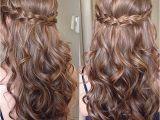 Hairstyles Down Curly Braid Sweet Sixteen Prom Hair Frisuren Pinterest
