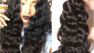 Hairstyles for Black Virgin Hair Nadula Cheap Peruvian Virgin Hair 4 Bundles Natural Wave Thick Wavy