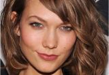 """Hairstyles for Curly Hair with Side Bangs Wavy tousled Bob Chin Length Side Bangs""""ask for """"a Classic Bob"""