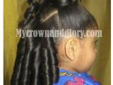 Hairstyles for Little Girls- Ponytails Bination Of Ponytail and Curls Pinned From