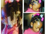 Hairstyles for Little Girls- Ponytails Simple Hair Styles for Little Black Girls Braids Beads and