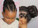 Hairstyles for Little Girls with Natural Hair Bun and Braids N A T U R A L K I D S Pinterest