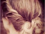 Hairstyles for Long Hair after Shower Give the Messy Bun A Little Makeover by Twisting the Sides and