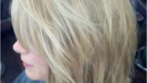 Hairstyles Shattered Bob Shattered Shoulder Length Bob and Highlight by Jennifer Schropp at