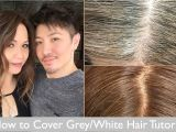 Hairstyles to Disguise Grey Hair How to Cover Grey White Hair Tutorial