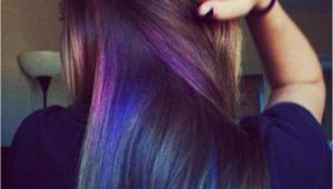 Hairstyles to Hide Dyed Hair Makic Oil Slick Hair Colors Hidden Under Layer Haircolor