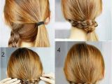 Hairstyles Tutorial App Pigtails One Braided One Ponytail Wrap Brace Around Ponytail
