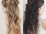 Half Straight Half Curly Hairstyles Curly Hairstyles Inspirational Half Straight Half Curly